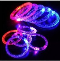 Pretty Baby LED colorato lampeggiante braccialetto regali luce lampeggiante acrilico Bracciali anello Bangle Splendida Dance Party di Natale