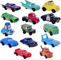 Wholesale Pixar Cars 14pcs - High Quality PVC Pixar Car Figures Toy Cars Toys 4-7cm Set for Gift Free Shipping 14pcs lot