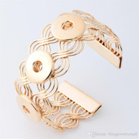 Alloy Fashion 18mm Metal Snap Button Bangle Feminino Diy Jóias One Direction Relógios Mulheres Cater Love Bracelet