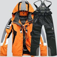 Wholesale Sleeves Spider - Spider brand hiking skiing jackets for men new fashion camping skiing suits jacket and pants men luxury 2pcs sport suits free shipping
