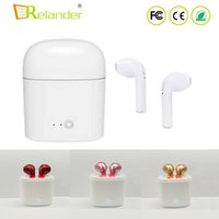 Wholesale Ears Phone Wireless - New i7s tws bluetooth 4.2 Earphones mini wireless stereo Headphones music earbuds hands free call headsets with mic for Iphone Android phone