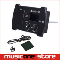Wholesale Acoustic Bass Pickup - 2pcs JOYO JE-53 2 In 1 Guitar Parts Equalizer and Tuner Professional Acoustic Guitar Simple Preamp Equalizer Pickup with Tuner MU0505