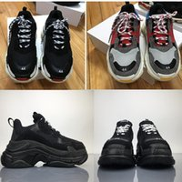 Wholesale Vintage Mens Boots - Triple S Men and Women Retro Boots Vintage Running Shoes Mens Shoes Top Quality of Fashion Boots Sports Sneakers Woman's Sport real Boost