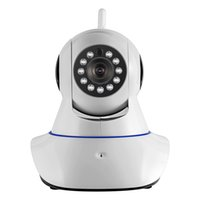 Wholesale Camera Ip Pt Ir Alarm - KERUI Wireless WiFi IR Cut IP Camera HD 1MP CMOS Security CCTV IP Camera Alarm PT, Retail box. For wifi and GSM sms alarm system