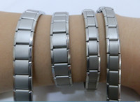 Wholesale Titanium Health Bracelets - MENS & LADIES TITANIUM MAGNETIC BRACELET SILVER ARTHRITIS HEALTH SPORTS RELIEF