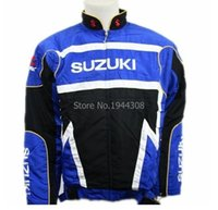 Wholesale Driver Jacket - Fall-winter loose sport coat for suzuki New black blue rally suzuki jacket suits motorcycle driver jacket