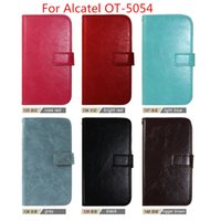 Wholesale Ot Cover - For Alcatel OT-5054 Top fashion luxury Flip Wallet Leather Case Cover Photo Frame 3 Card Slots