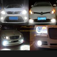 Wholesale 3157 Bulb Wholesale - Car Stoplight White Amber Yellow White 60-SMD LED Switchback Signal Lights Bulbs 3157 3155 3156 3757