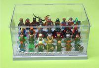 spielzeugkastenteile großhandel-26 * 15 * 13 cm Baustein Teile Super Heroes Avengers Minifiguren Acryl Display Box Minifigur Schaufenster Leiter Schränke Spielzeug