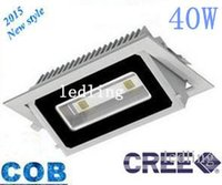 Wholesale 8pcs Bedding - 8pcs CREE40W COB Led Downlights Recessed Led Floodlights 4000 Lumens 160 Angle Warm Cold White Led Ceiling Down Lights AC 85-265V +CE ROHS