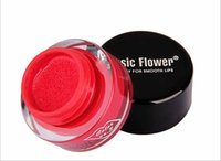 Wholesale Air Brush Colors - Lady Makeup Maquiagem 3D Music Flower Air Cushion 24h Long Lasting Lip Gloss Waterproof 7 Colors with Lip Brush #71806
