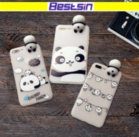 Wholesale panda phone case iphone - New arrival Panda Phone case for Iphone 8 High Quality Slicone Gel phone case for Iphone 7 iphone x free shipping