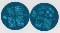 Wholesale Different Stamps - New Design m81-m104 Bule Round Series Stamping Nail Art Plate Mix Design Nail Image Plate 24 Different Designs Free Shipping JZ12