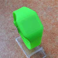 Cheap Colorful LED Touch-screen Watch Jelly Candy Extra-mince Montres en Silicone DHL FedEx Livraison gratuite 30pcs