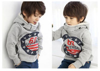 Wholesale 2 to Years children kids baby boys outwear clothing Number style children baby kids outerwear coat clothes winter Autumn child coat