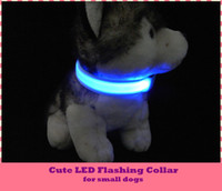 Wholesale Large Love Necklace - 7colors LED Colorful Two-sided Light Flashing Dog Cat Safty Leash Collar Adjustable Cute Love Pet Necklace for Small Terriers Bichon Poodles