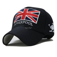 Wholesale England Flag Prints - New Arrivals Liverpool Warm Felt Bone Snapback Hat Unisex Gorras Baseball Cap Snap Backs With England Flag For Autumn Winter