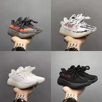 Wholesale infant zebra shoes - Infants SPLY 350 Boost V2 2017 Kids Running Shoes Sneaker Bred Zebra Triple White Beluga Grey Orange 26-35 Season 3