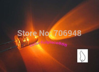 velas verdes vermelhas-amarelas venda por atacado-MIX Água claro 5mm Branco / Laranja / Verde / Azul / Vermelho / Amarelo Cintilação De Vela Ultra Brilhante Cintilação LED Leds