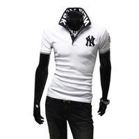 Wholesale Trading Process - Hot foreign trade t-shirt men spring and summer 2015 men's shirt lapel rqNY undertake OEM production and processing