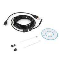 Wholesale Rigid Mini - 3.5m Waterproof Endoscope Mini HD Camera Snake Tube 7mm Lens Rigid Cable USB Inspection with LED Borescope for Android Phone PCs