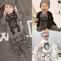 Wholesale Grils Sets - wholesale baby boy grils clothing leggings Two Pieces sets suits clothes long-sleeved pajamas Outfits cartoon tights Set foreign trade