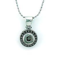 Wholesale Silver Chains For Men 12mm - Fashion Pendants Necklaces Infinity Chains 12mm Snap Button Retro Circles Statement Interchange Necklace For Men Jewelry