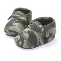 Wholesale Baby Brown Shoes - Free Shipping Baby Boy Shoe Camouflage Top Quality Toddler First Walkers 0-2years Camo Children's Shoes Handmade babywear