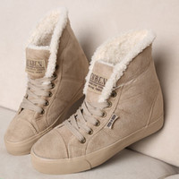 Wholesale Brown Suede Fringe Boots - New 2015 fashion fur knight female warm ankle women snow boots and autumn winter women shoes suede fringe boots