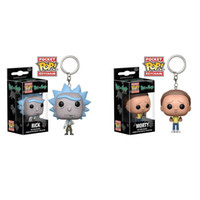 Wholesale Bobble Heads Funko - Funko Pop Keychain Avengers Rick and Morty Action Figure Bobble Head Q Edition New Box for Car Decoration Pop Toy