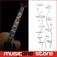 Wholesale Tree Life Guitar Inlay - Guitar Fret Inlay Stickers Tree Of Life J.Custom Fretboard Decals Marker For Acoustic Electric Guitarra Fret Neck New Colour Abal MU1288-2