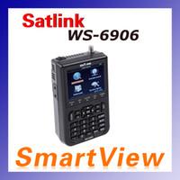 """Wholesale Satellite Meters - 1pcs Genuine Satlink WS-6906 DVB-S FTA digital satellite meter satellite finder with 3.5"""" inch display satlink ws 6906"""