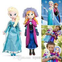 Wholesale 2015 New Frozen Doll Frozen Plush Toys cm Big Size Princess Elsa Anna Doll Brinquedos Kids Baby Dolls for Girls Children O001