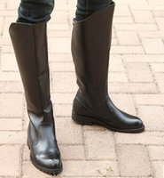 Wholesale Leather Riding Boots Men - Wholesale- Fashion parade high leather boots knights of honor guard riding PUNK boots male leisure RAP England pointed motorcycle boots