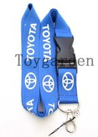 Wholesale Style Camera Strap - New 10Pcs Popular Toyota car Logo Style Mobile Phone camera Necklace Strap Lanyards K41