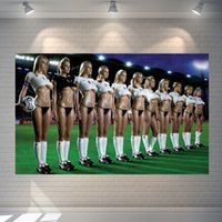 Wholesale Vintage Religious Art - Vintage movie posters sexy football girl Home Art Decor wallpaper cafe bar pub hotel wall decoration 60*40cm Photo Paper material