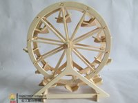 Wholesale Toy Wooden Ferris Wheel - Wholesale-[Free Shipping][3D Wood Puzzles][A little flaw]3d wooden puzzle, children's jigsaw puzzle toys, model of the ferris wheel