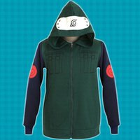 Wholesale Konoha Cosplay Naruto - Naruto Konoha Ninja Hatake Kakashi Sweatshirt Cosplay Costume Hooded Coat Jacket Unisex Hoodies Tops Sportwear