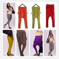 Wholesale Harem Leopard - Women's Model Loose harem baggy pants Fashion leopard stripe casual long pants Autumn summer hip hop pant