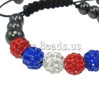 Wholesale Newest Designs Handmade Bracelets - Wholesale-Free shipping!!!Rhinestone Shamballa Bracelets,Newest Design, Clay, with Wax Cord & Non-magnetic Hematite, handmade