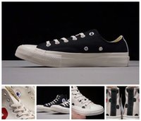 Wholesale fashion hearts - 2017 Converse x CDG Chuck Tay Lor All Star Casual Fashion Canvas designer Running Shoes Big Heart Converses Sneakers 36-45