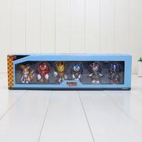 Wholesale Sonic Doll - 6cm aprrox 6 style Sonic The Hedgehog Super Sonic Characters PVC Mini Figure Toys Dolls with Retail Box 6pcs set