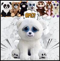 Wholesale Dogs Xmas - 11 Styles 20cm New Feisty Pets Funny Toys Cartoon Monkey Dog Animal Plush Stuffed Doll Toys For Children Adult Xmas Gift CCA8186 30pcs