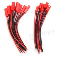 Wholesale 10 Pairs mm JST Connector Plug Cable Line Male Female for RC BEC Lipo Battery