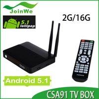 Wholesale Ram Mic - CSA91 Android 5.1 Set Top Box TV Box RAM 2GB Flash 16G Chipset RK3368 WIFI Bluetooth 4.0 Built-in MIC
