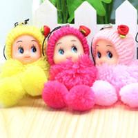 colgante de niña al por mayor-Venta 8 cm payaso a cuadros confuso pullip baby doll para niña Nanette colgante de regalos accesorios para teléfonos celulares todo en miniatura taza colgante de casa de muñecas