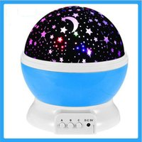 Wholesale Rotary Light Switch - Wholesale- New Romantic Starry Sky Star Projector Lamp LED Night Lights Rotary Flashing Projection USB Light for Kids Children Baby Bedroom