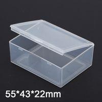 Wholesale Small Box Transparent - 10pcs Small transparent plastic box PP Storage Collections Container Box Case