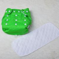 yıkanabilir pamuklu eğitim pantolonları toptan satış-1 takım Kullanımlık Bebek Yumuşak Bez Bezi Nappy + Bezleri Pedleri Toddler Eğitim Pantolon pamuk Bezi Yıkanabilir Su Geçirmez Taze Renk
