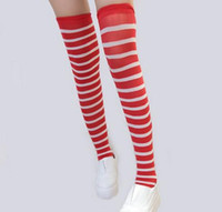 ingrosso costumi natali del padre-25pairs / lot Where's Wally Waldo Cartoon Red calze costume Merry Christmas costumi a strisce Cosplay Natale padre Calze Calze Calze